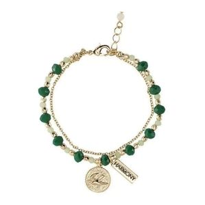 Inner Goddess Double Row Charm Bracelet Bird